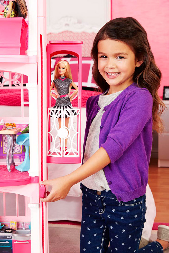 mattel barbie traumvilla puppenhaus jetzt online kaufen. Black Bedroom Furniture Sets. Home Design Ideas