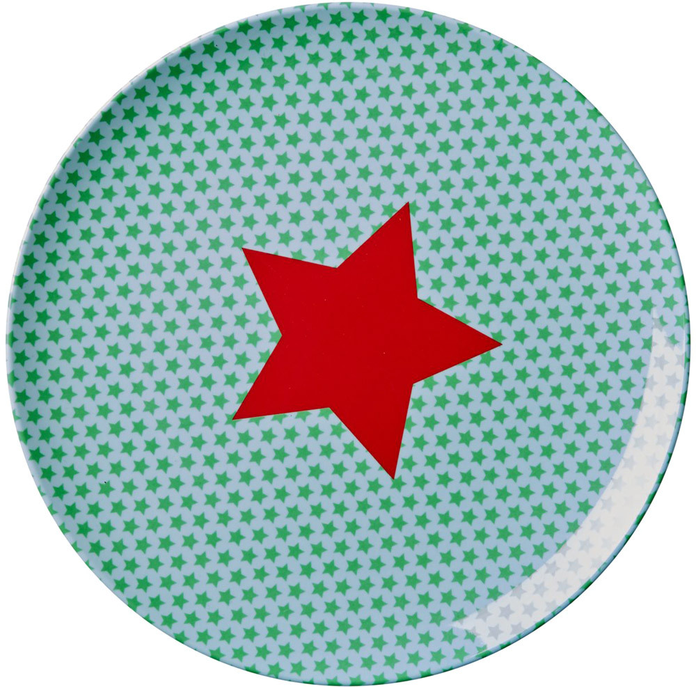 Kids Lunch Plate Boy Star Print (KILPL-STAR14)