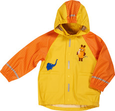 Playshoes Regenjacke Maus & Elefant orange