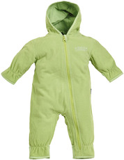 BMS Antarctic Fleece Baby Kapuzenoverall  Lime-Green