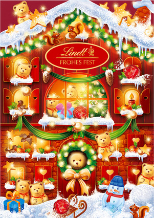lindt teddy adventskalender kinderriegel jetzt online. Black Bedroom Furniture Sets. Home Design Ideas
