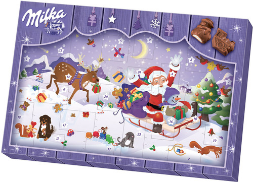 milka adventskalender kinderriegel jetzt online kaufen. Black Bedroom Furniture Sets. Home Design Ideas