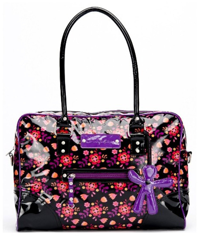 Little Company Wickeltasche LC Today Glossy Bag  Wickeltasche black, purple (LCTG01.BP)