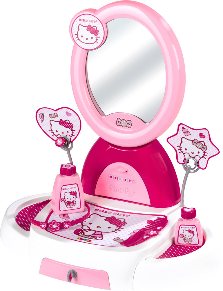 smoby hello kitty frisiersalon tischset. Black Bedroom Furniture Sets. Home Design Ideas