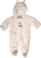 Playshoes Teddy Fleece Overall mit Kapuze - Bärchen