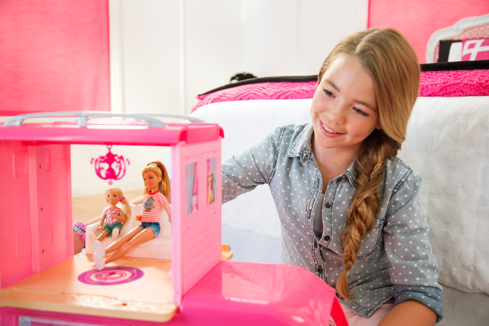 barbie super ferien camper puppenhaus jetzt online kaufen. Black Bedroom Furniture Sets. Home Design Ideas
