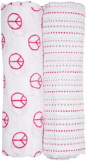 Lässig Swaddle Blanket Peace & Dots