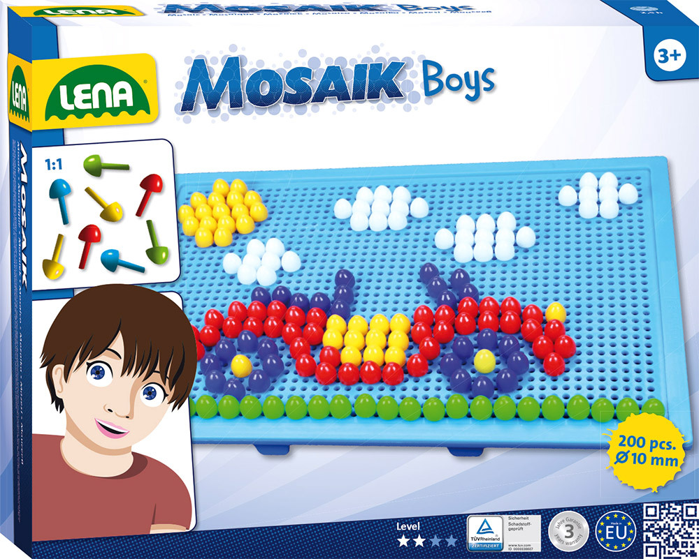 ® Mosaik Set Color 10 mm, groß Boys (35612)