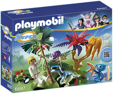 PLAYMOBIL® Super 4 - 6687 - Lost Island mit Alien und Raptor