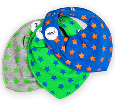 Pippi Schal dots/stars (3-pack) 3402