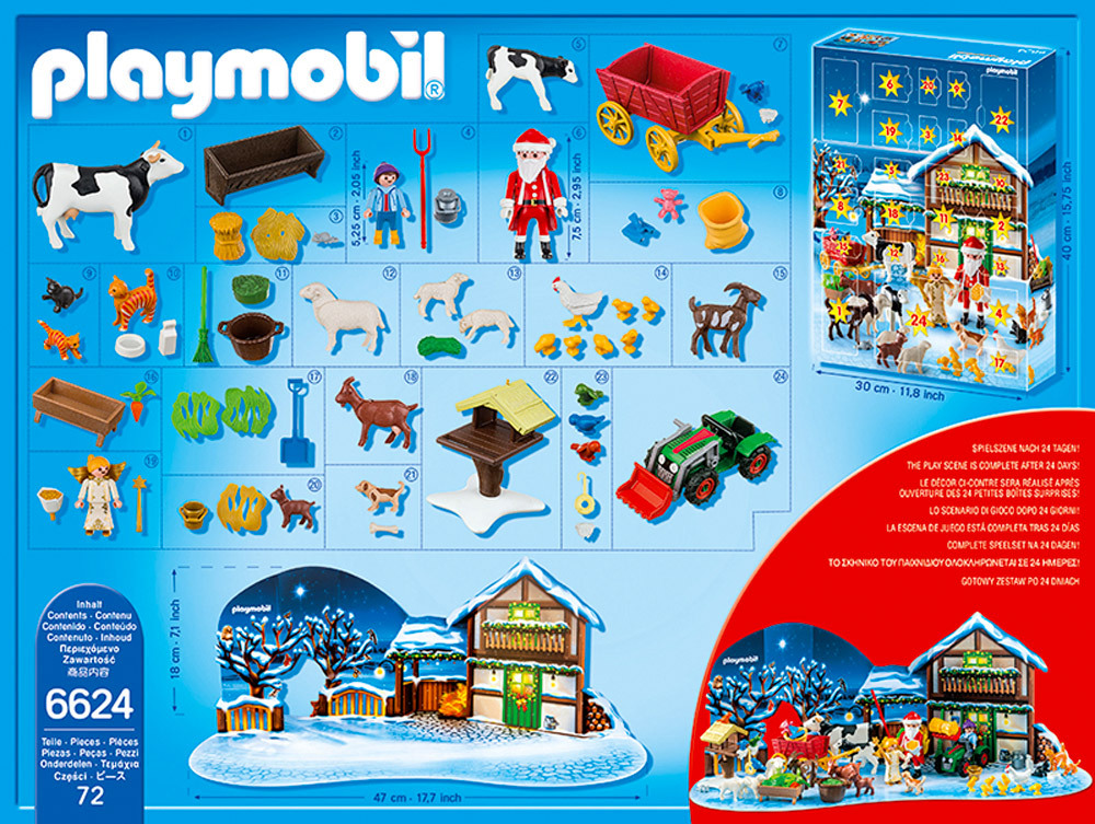 playmobil christmas 6624 adventskalender weihnacht. Black Bedroom Furniture Sets. Home Design Ideas