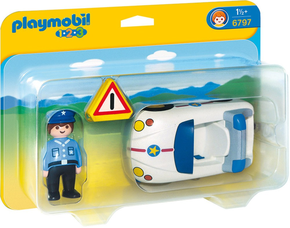 playmobil 1 2 3 6797 polizeiauto playmobil 1 2 3. Black Bedroom Furniture Sets. Home Design Ideas