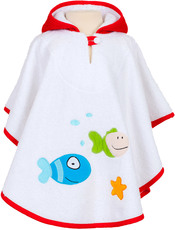 Smithy Badeponcho Fische