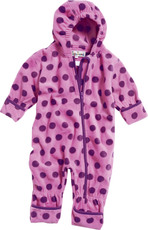 Playshoes Fleece Overall mit Kapuze - Punkte