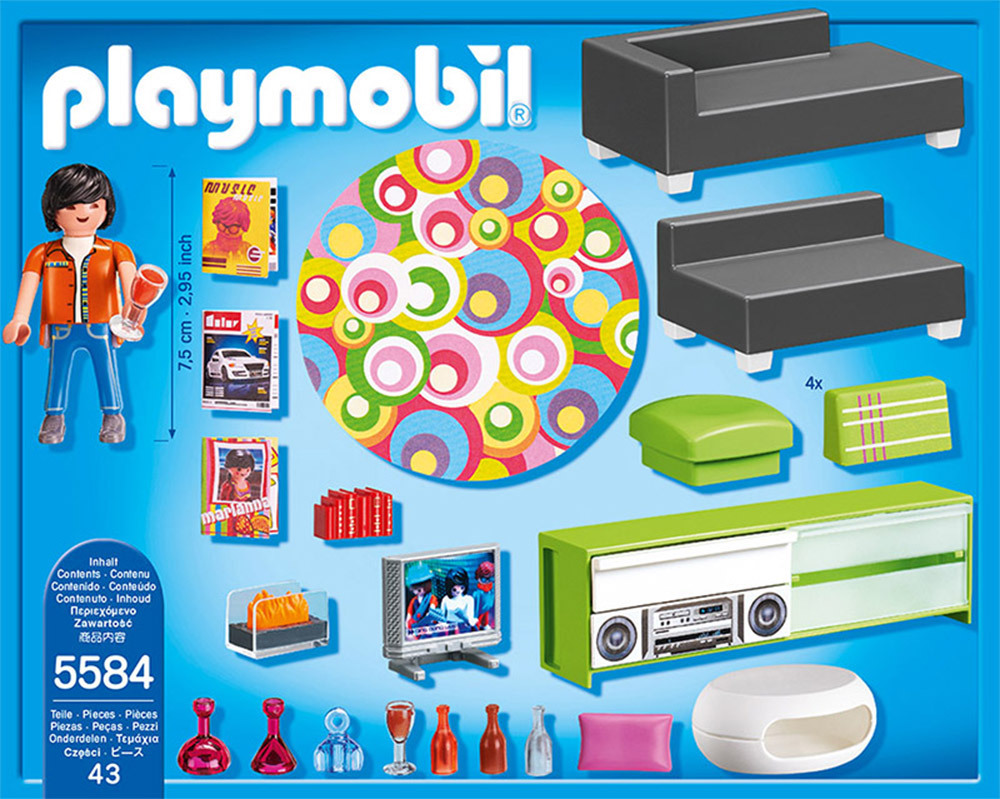 Salon Villa Moderne Play Mobil : PLAYMOBIL® City Life 5584-Wohnzimmer ...