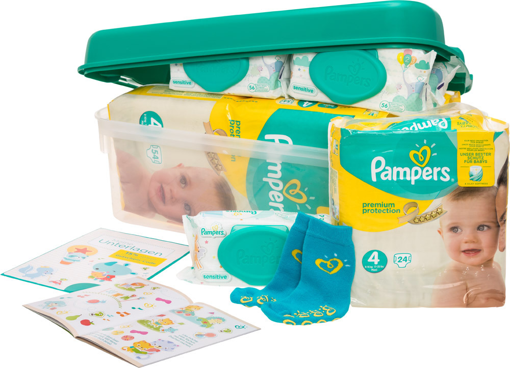 pampers vorteilsbox premium protection gr 4 babywindeln. Black Bedroom Furniture Sets. Home Design Ideas