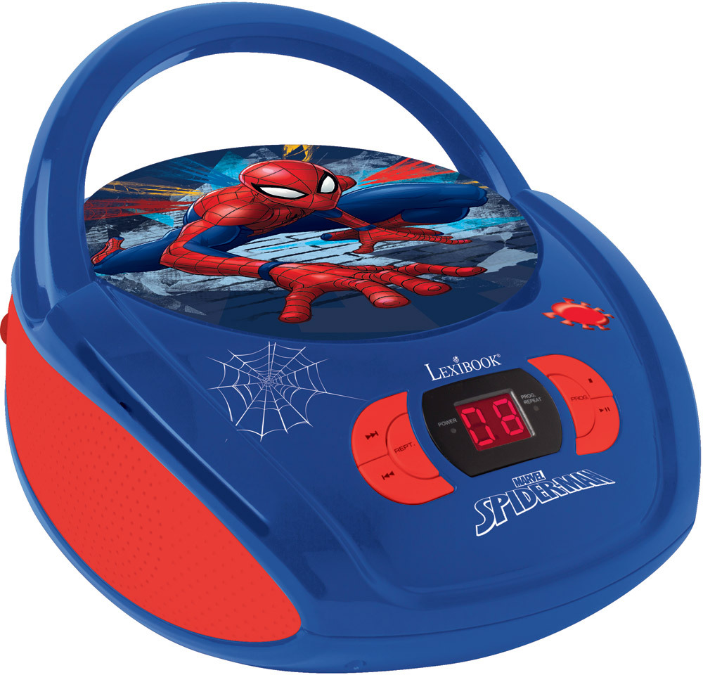 lexibook radio cd player spider man cd player dvd. Black Bedroom Furniture Sets. Home Design Ideas