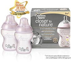 Tommee Tippee Closer to Nature Anti Kolik Flasche bedruckt