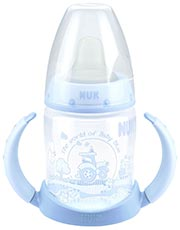 NUK First Choice Baby Blue Trinklernflasche