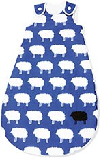 Pinolino Schlafsack Happy Sheep Sommer, blau,