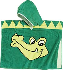 Playshoes Frottee-Poncho Krokodil
