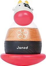 Janod Zigolos Cow Roly-Poly Toy