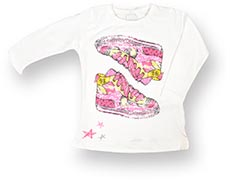 name it Langarmshirt mit Sneaker-Print Killa