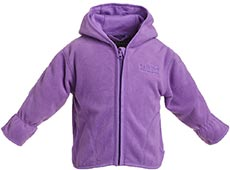 BMS Antarctic Fleece Baby Kapuzenjacke flieder