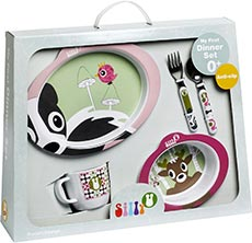 Silly U Forest My First Dinner Set