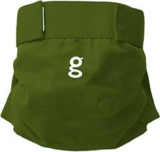 gDiapers gPants - Galoshes Green